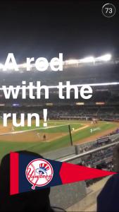 Snapchat Yankees