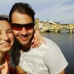 Io e Andrea sull'Arno 2